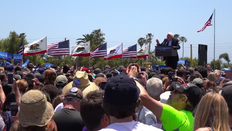 Bernie-Sanders-speaks-in-front-of-a-huge-crowd-at-a-political-rally-about-what-politics-means-in-America