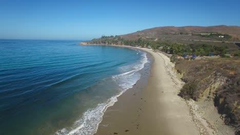 A-beautiful-long-aerial-shot-along-Refugio-State-Beach-near-Santa-Barbara-California