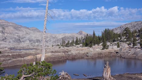 Time-lapse-shot-of-the-Desolation-Wilderness-in-the-Sierra-Nevada-mountains-California-2