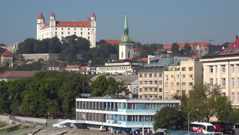 Establishing-shot-of-the-city-skyline-of-Bratislava-Slovakia