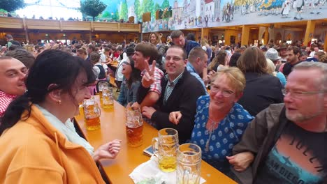 People-drink-sing-and-celebrate-at-Oktoberfest-Germany