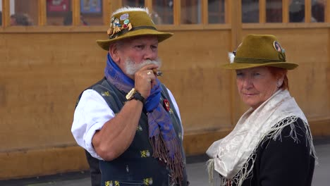 An-older-couple-in-costume-attends-Oktoberfest