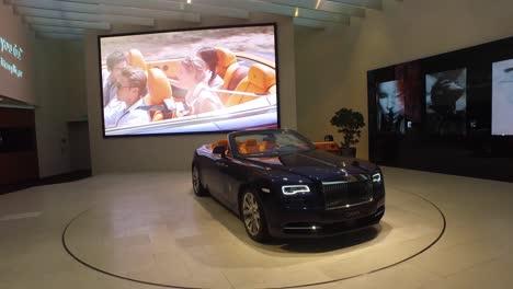 A-luxury-Rolls-Royce-car-sits-in-a-showroom-1