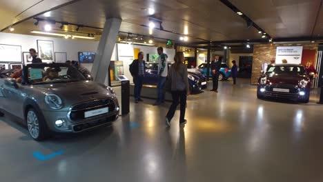 A-showroom-of-Mini-Cooper-sports-cars