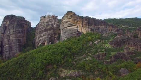 Beautiful-aerial-over-the-rock-formations-and-monasteries-of-Meteora-Greece-11