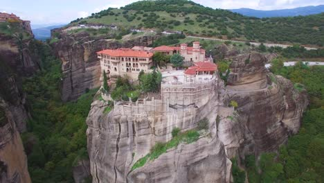 Beautiful-aerial-over-the-rock-formations-and-monasteries-of-Meteora-Greece-13