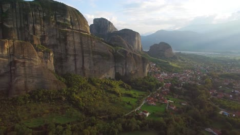 Beautiful-aerial-over-the-rock-formations-and-monasteries-of-Meteora-Greece-16