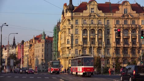 Traffic-moves-on-the-streets-of-Prague-Czech-Republic-1