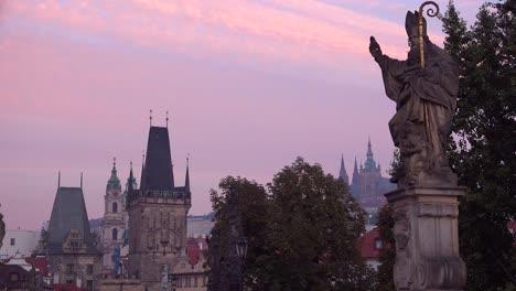 Classic-morning-dawn-light-on-statues-on-the-Charles-Bridge-in-Prague-Czech-Republic-5