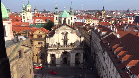 High-angle-view-over-the-rooftops-of-Prague-Czech-Republic-2