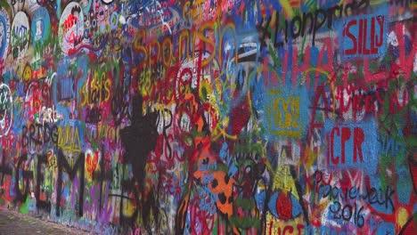Graffiti-art-decorates-the-John-Lennon-Wall-of-free-speech-in-Prague-Czech-Republic