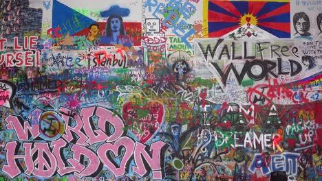 Graffiti-art-decorates-the-John-Lennon-Wall-of-free-speech-in-Prague-Czech-Republic-3