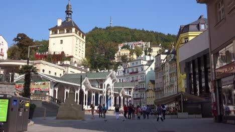 Establishing-shot-of-the-spa-resort-town-of-Karlovy-Vary-in-the-Czech-Republic