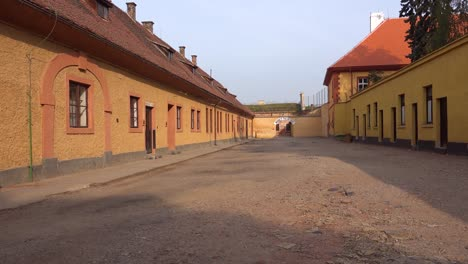 Long-rows-of-buildings-housed-prisoners-at-the-Terezin-Nazi-concentration-camp-in-Czech-Republic