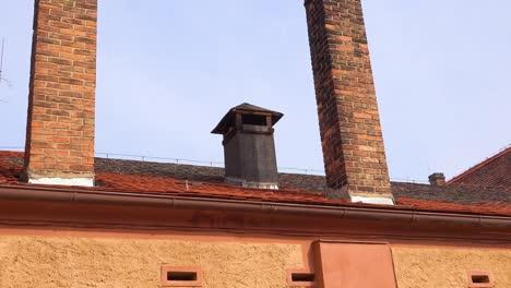 Schornsteine-Im-Nazi-Konzentrationslager-Theresienstadt-In-Tschechiencz