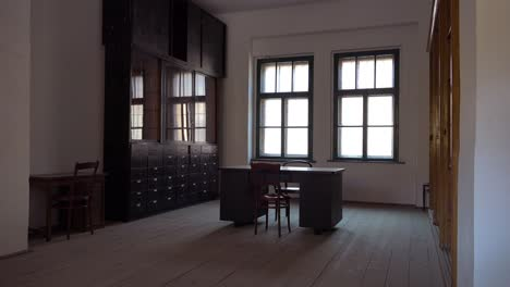 Interior-of-an-interrogation-room-at-the-Terezin-Nazi-concentration-camp-in-Czech-Republic