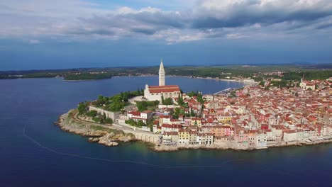 Beautiful-aerial-shot-of-the-town-of-Rovinj-in-Croatia-5