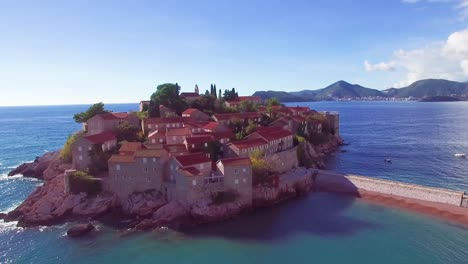 Remarkable-aerial-shot-over-the-beautiful-Sveti-Stefan-island-in-Montenegro-8