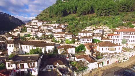Good-aerial-shot-of-ancient-houses-in-Berat-Albania-1