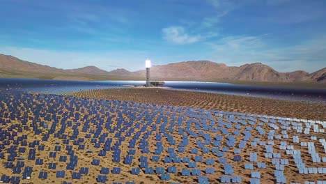 Drone-aerial-over-a-vast-solar-power-generating-facility-at-Primm-Nevada-3