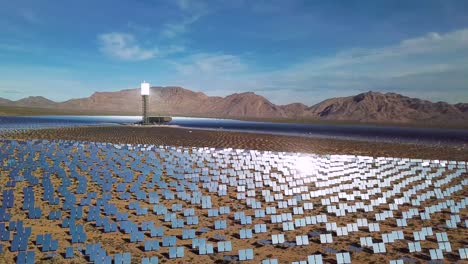Drone-aerial-over-a-vast-solar-power-generating-facility-at-Primm-Nevada-5