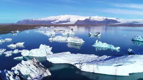 Beautiful-aerial-over-icebergs-in-the-Arctic-Jokulsarlon-glacier-lagoon-in-Iceland-3