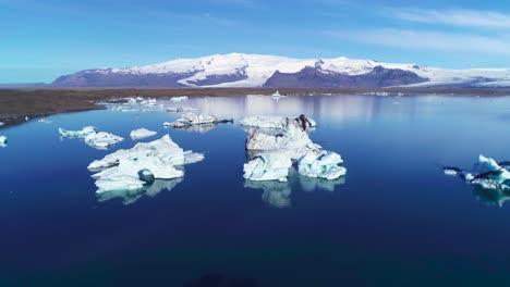 Beautiful-aerial-over-icebergs-in-the-Arctic-Jokulsarlon-glacier-lagoon-in-Iceland-5