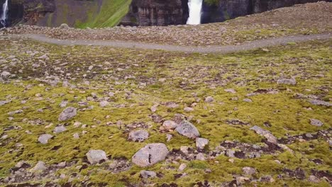 Aerial-over-the-beautiful-and-amazing-high-waterfall-of-Haifoss-in-Iceland-5