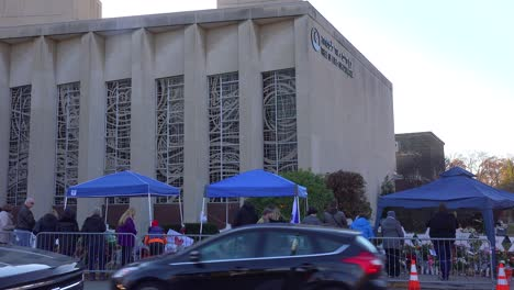 2018---memorial-to-victims-of-the-racist-hate-crime-mass-shooting-at-the-Tree-Of-Life-synagogue-in-Pittsburgh-Pennsylvania