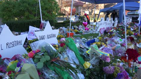 2018---memorial-to-victims-of-the-racist-hate-crime-mass-shooting-at-the-Tree-Of-Life-synagogue-in-Pittsburgh-Pennsylvania-2