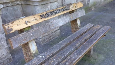A-bench-sayings-non-whites-only-along-a-street-in-Cape-Town-South-Africa-remembers-the-Apartheid-era-of-segregation-racism-and-separation-of-whites-and-blacks