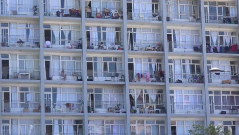Close-of-downtown-apartment-complex-and-balconies-in-central-Cape-Town-South-Africa
