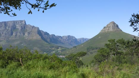 Beautiful-establishing-shot-of-Table-Mountain-and-Lion-s-Head-peak-Cape-Town-South-Africa-1
