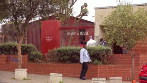 Establishing-shot-of-Mandela-House-in-Soweto-township-South-Africa