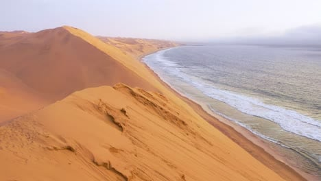Astonishing-aerial-shot-over-the-vast-sand-dunes-of-the-Namib-Desert-along-the-Skeleton-Coast-of-Namibia-6