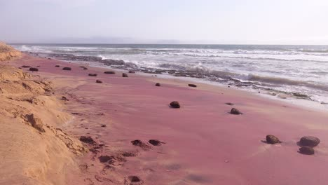 Pink-garnets-and-other-geological-stones-make-a-pink-beach-along-the-Skeleton-Coast-of-Namibia