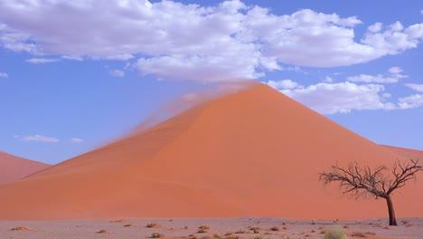 Vientos-Muy-Fuertes-Soplan-Arena-De-La-Duna-45-En-Una-Enorme-Tormenta-De-Arena-En-El-Parque-Nacional-Namib-Naukluft-Namibia-1