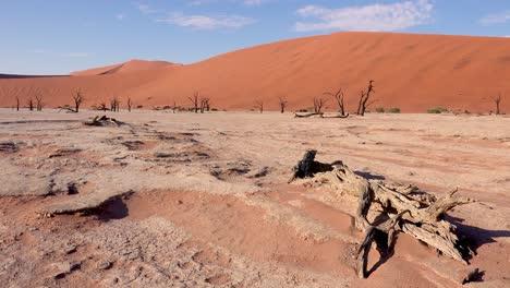 Establishing-shot-of-Namib-Naukluft-National-Park-in-the-Namib-desert-and-massive-sand-dunes-dawn-Namibia-2