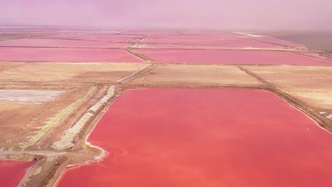 Hermosa-Antena-Sobre-Rojo-Brillante-Y-Rosa-Salinas-Granjas-Cerca-De-Walvis-Bay-Namibia-1