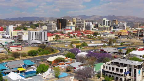 Aerial-over-downtown-and-central-business-district-of-Windhoek-Namibia-capital-city-1
