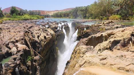 A-beautiful-aerial-over-Epupa-Falls-on-the-border-of-Angola-and-Namibia-Africa-4