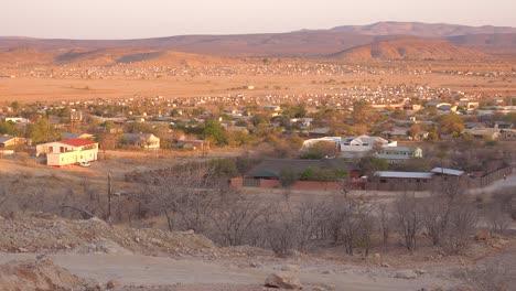 Establishing-shot-of-the-Himba-tribal-market-town-of-Opuwo-in-northern-Namibia