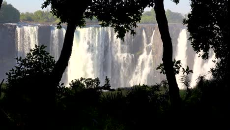 Beautiful-establishing-shot-of-Victoria-Falls-and-jungle-from-the-Zimbabwe-side-of-the-African-waterfall