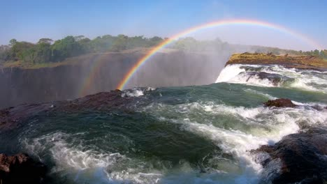 Tourists-gather-at-Devil\-s-Pool-the-edge-of-Victoria-Falls-Zambia-for-a-glimpse-over-the-edge-of-the-waterfalls-2