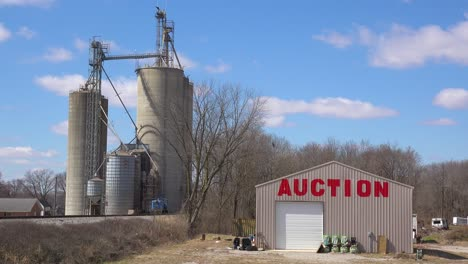 An-auction-house-in-an-industrial-area-of-a-small-midwestern-American-town