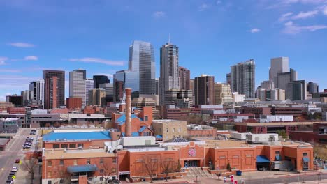 Good-aerial-of-downtown-Denver-Colorado-business-district-and-establishing-skyline-1