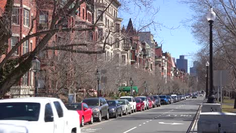 Establishing-shot-of-apartments-and-streets-in-downtown-Boston-Massachusetts