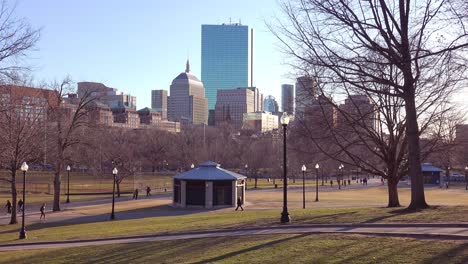 Downtown-Boston-Massachusetts-with-Boston-Common-park-and-church-1