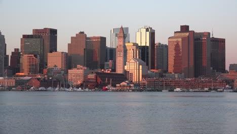 Skyline-of-downtown-Boston-Massachusetts-at-sunset-or-sunrise