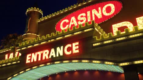 Establishing-shot-of-neon-Casino-lights-at-a-generic-gambling-casino-in-Nevada